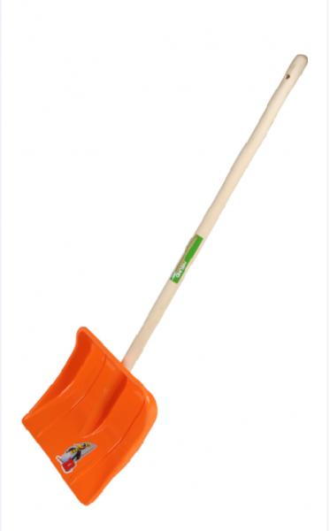 Kinder- Kunststoffschneeschieber orange 97330