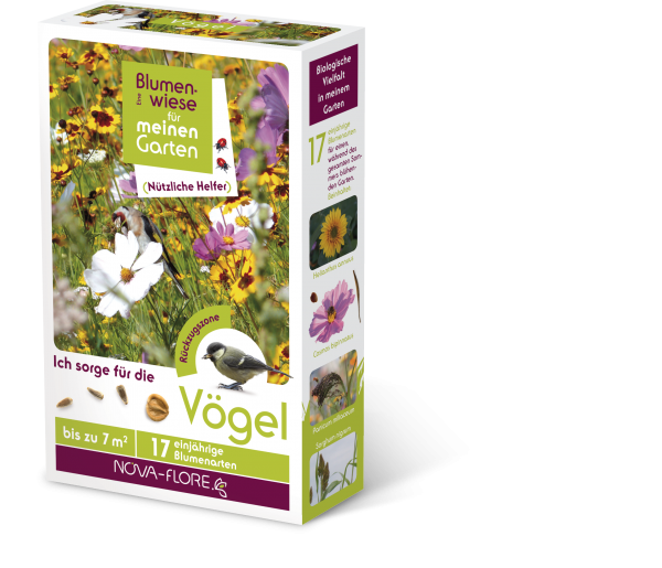 Blumensamen, nützliche Helfer, Vögel 7m²