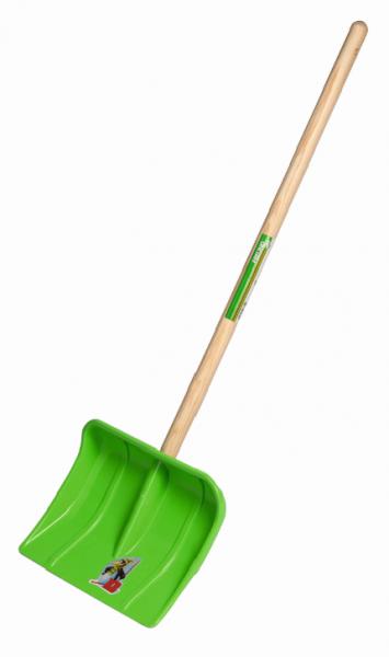 Kinder- Kunststoffschneeschieber grün 97330